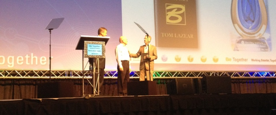 Tom Lazear Receives Lifetime Achievement Award